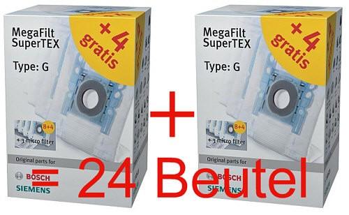 24x siemens staubsaugerbeutel typ g staubbeutel bosch bsg siemens vs04 06 07 neu ebay. Black Bedroom Furniture Sets. Home Design Ideas